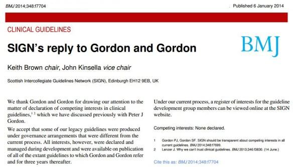 SIGNs reply to Gordon & Gordon