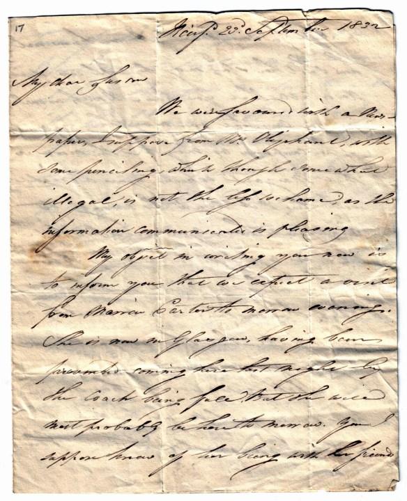 David Rutherfoord 23 Sept 1832 (1)