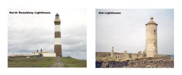 North Ronaldsay Old and 'New' Lighthouses