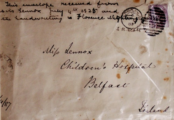 The Envelope of 1887 Florence Nightingale