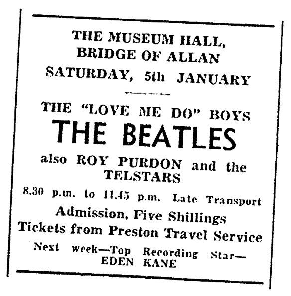 The BEATLES, 5 Jan 1963