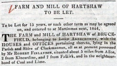 Mill of Hartshaw 1844