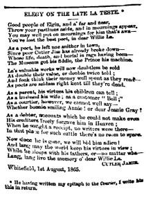 reposte to La Teste Aug 1865