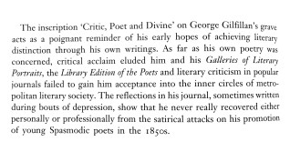 George Gilfillan - critic, poet and divine