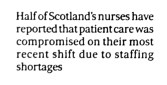 Scotsman 1 August 2017, Scots nurses warn staff shortages hitting care (3)