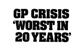 Sunday Post 24 September 2017 'GP Crisis' - NHS Scotland (1)