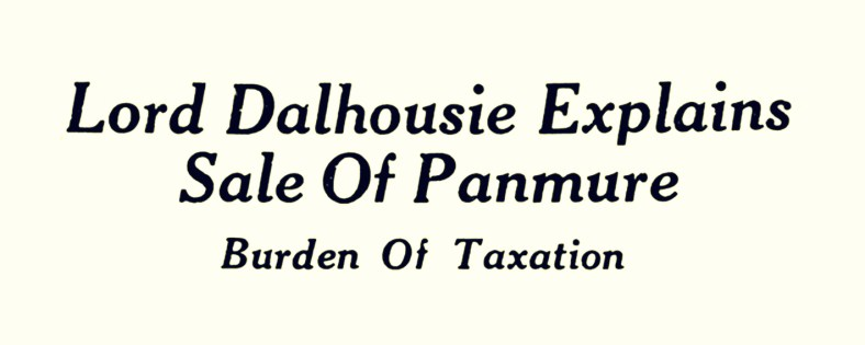 3 Feb 1951 Burden of Taxation (Panmure)