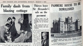 7 March 1955 Panmure House to be Demolished