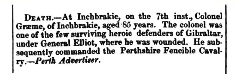 Inchbrakie, 1840