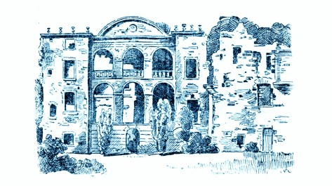 Sketch of Craighall castle c1900