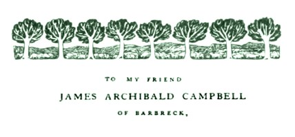 Arbor Vitae by Godfrey Blount to James Archibald Campbell of Barbreck