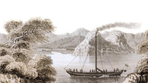 The first steam boat, the 'Comet', built by Henry Bell, 1811 who brought steam navigation into practice in Europe