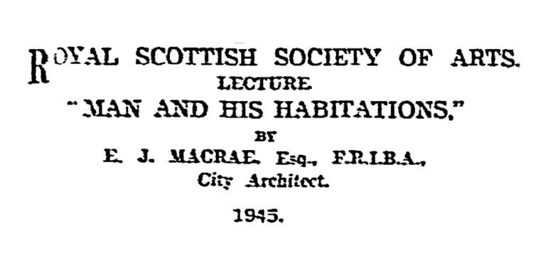 Ebenezer James MacRae, Edinburgh, Architect (2)