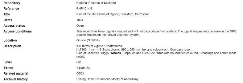 1804 plans Whaick