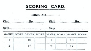 Curling Score card - Abdie