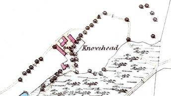 Knowehead map 1864