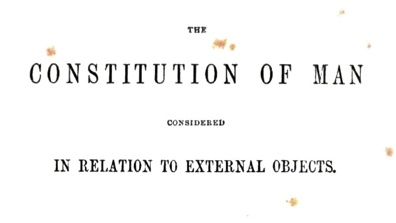 The Constitution of man