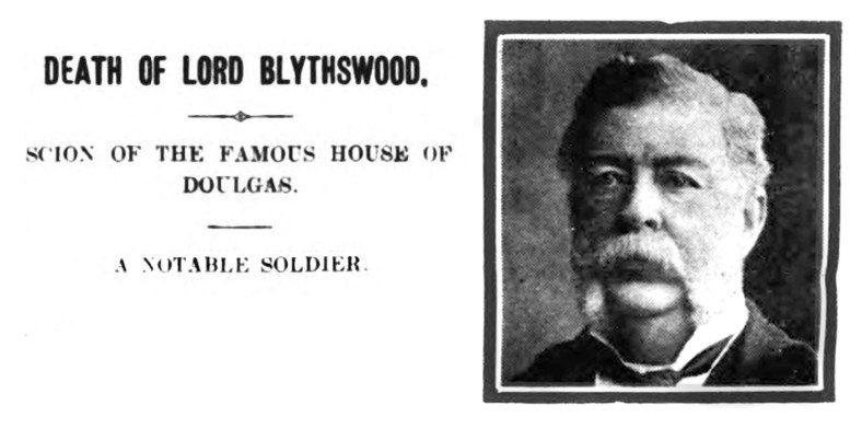 Death of Lord Blythswood - Douglas Support
