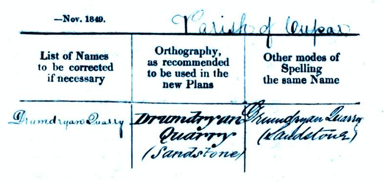 1893 OS book- Drumdryan, Cupar
