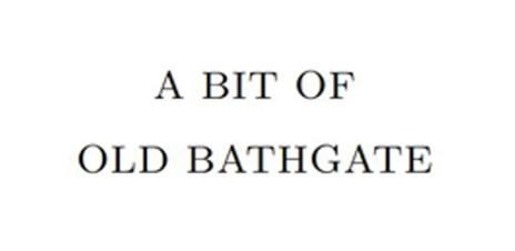 A bit of old Bathgate