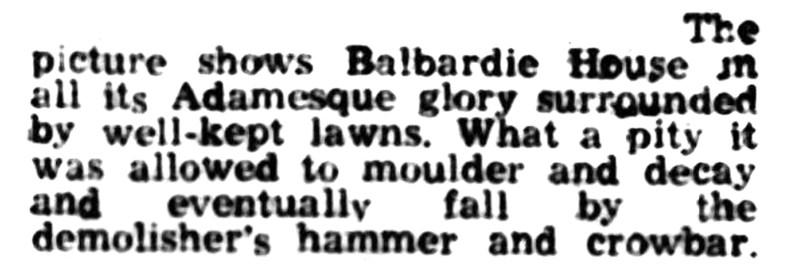 Balbardie - Sept 1961