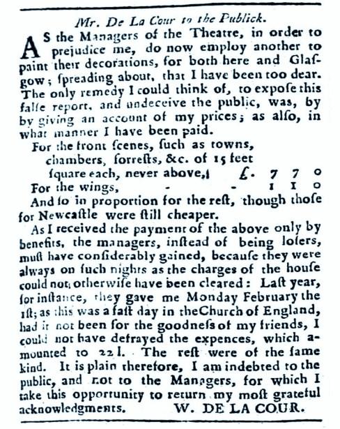 William Delacour - March 1763