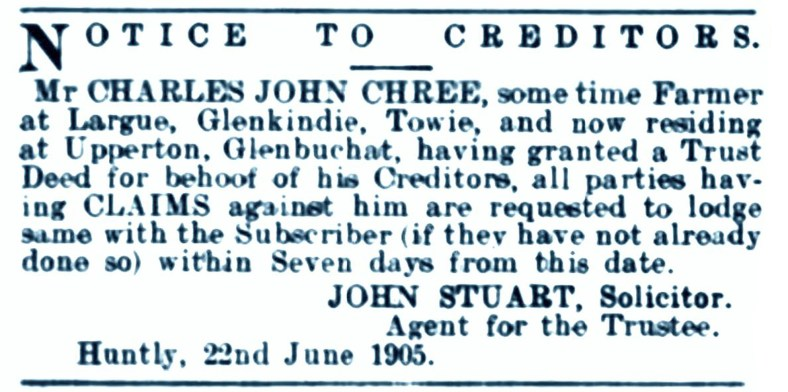 June 1905, Largue, Glenkindie
