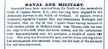 12 Feb 1842 Captain Slater