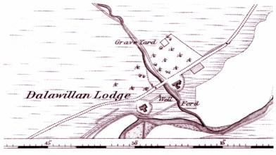 Dallawillan Lodge 1872 map