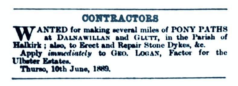June 1889 Danawillan and Glutt