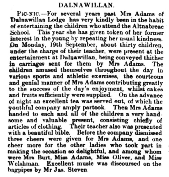 Sept 1881 - Dalnawillan