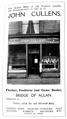 John Cullens, Butcher, Bridge of Allan - still going strong in April 2020