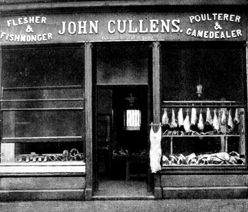 John Cullens as it was - Bridge of Allan, Butchers