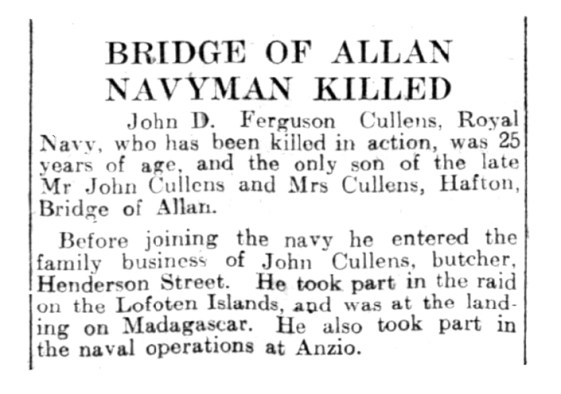 John D Cullens WWII death - 1