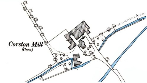 Corston Mill OS map 1894