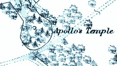 Apollo's temple - 1st OS map. Taymouth castle