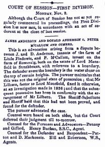 Nov 1857 Rosecraig
