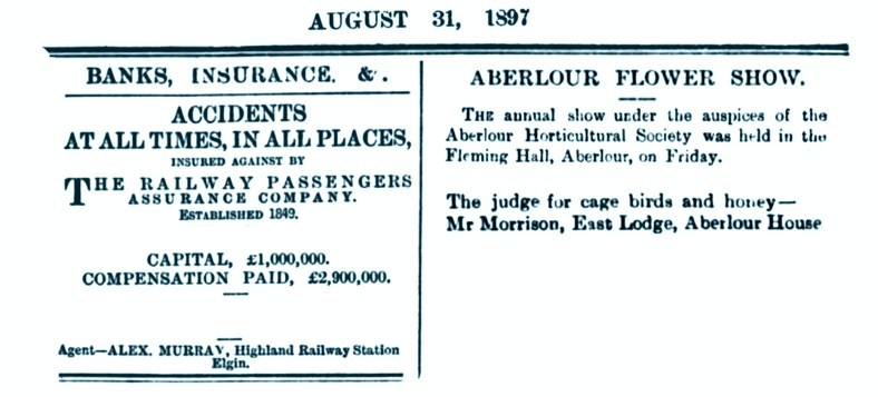 Aug 1897 Aberlour Flower show, East Lodge, Aberlour House