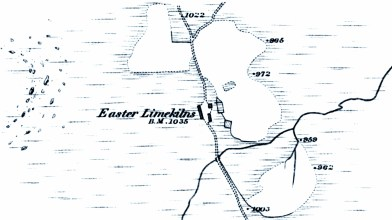 Easter Limekilns OS map 1872