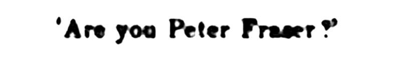 Nov 1891 Peter Fraser 2