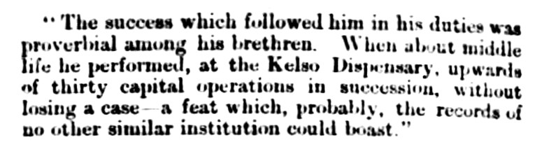 16 March 1872, death of Dr John Stuart of Kelso 5