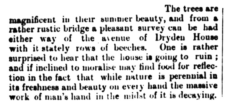 Dryden described in July 1892 [edit]