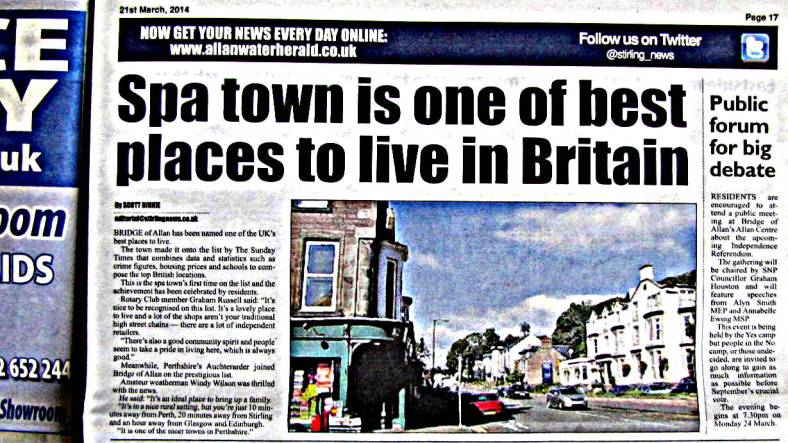 Spa town is one of the best places to live in Britain 21 Mar 2014