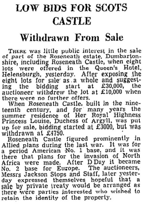Sept 1949 Rosneath castle, Argyll