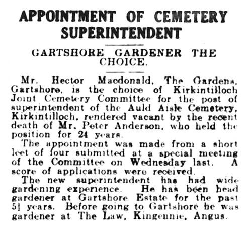 April 1943 Gartmore Gardener the choice