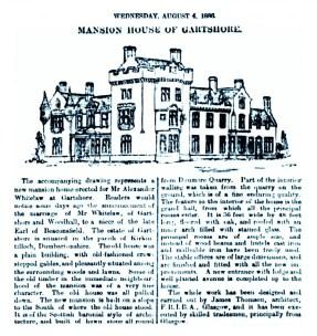 August 1886 - Mansion House of Gartshore