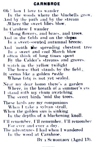 Bellshill Speaker - Carnbroe poem - 4 April 1924