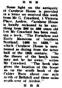 Carnbroe House 23 Aug 1952