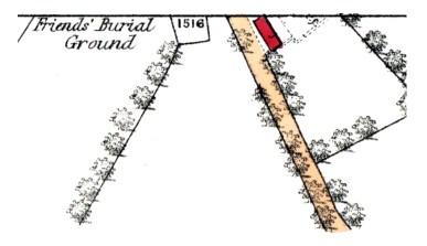 Friends' Burial Gound - Gartshore - OS map 1859b