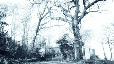 Gates to Gartshore estate 12 April 2021 (1)